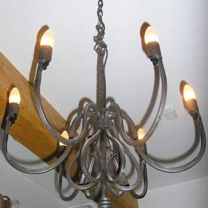 Wrought Iron chandiliar