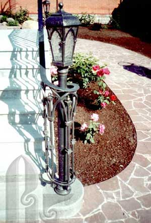 Wrought Iron lamp_post