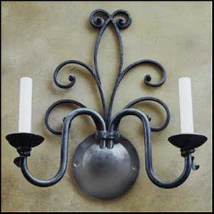 Wrought Iron wall_scone